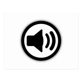 Audio Speaker Postcard