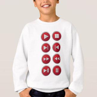 audio / video buttons sweatshirt