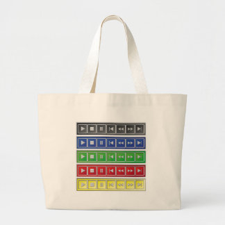 audio / video buttons canvas bags