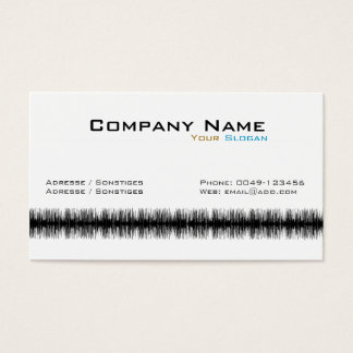 Audio Wave Business Card