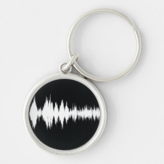 audio wave key ring