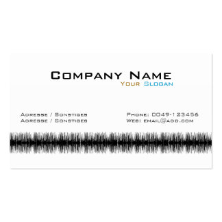 Audio Wave Pack Of Standard Business Cards
