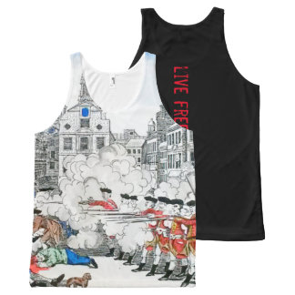 audiophiliacs.com BOSTON MASSACRE work out tank All-Over Print Tank Top