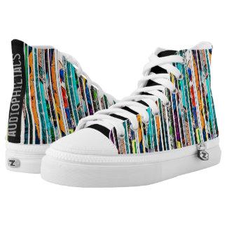audiophiliacs.com COMIC STRIPS high tops Printed Shoes