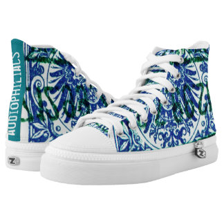 audiophiliacs.com REICH STAMP high tops Printed Shoes