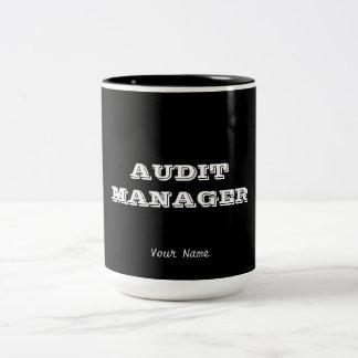 """AUDIT MANAGER"" Two-Tone COFFEE MUG"