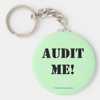 AUDIT ME! BASIC ROUND BUTTON KEY RING