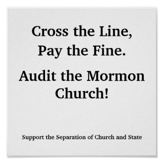 Audit the Mormon Church Poster