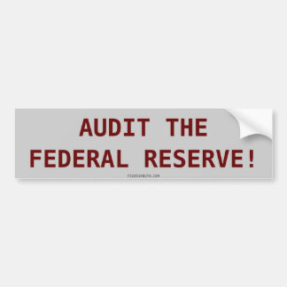 AUDIT THEFEDERAL RESERVE Sticker