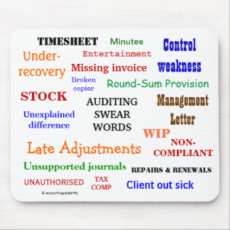 Auditing Swear Words Annoying But Funny Audit Joke Mouse Pad