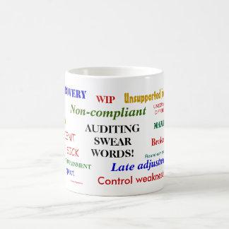 Auditing Swear Words Classic Basic White Mug