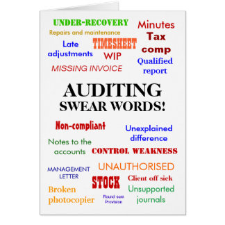 Auditing Swear Words! Thank You Card