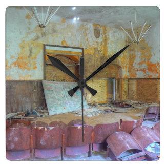 Auditorium 01.0.2, Lost Places, Beelitz Square Wall Clock