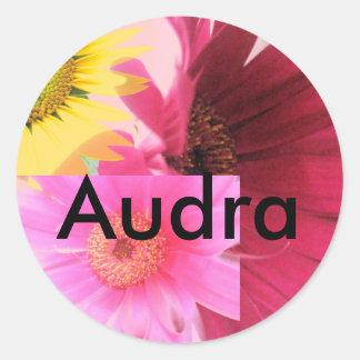 Audra Round Sticker