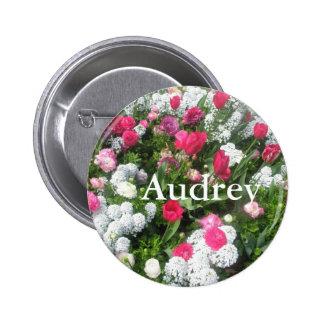 Audrey 6 Cm Round Badge