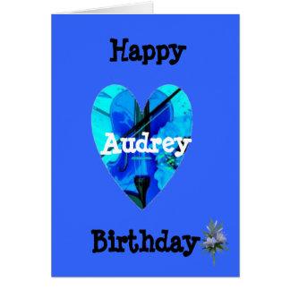 Audrey Greeting Card