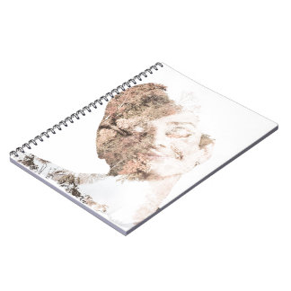 Audrey Double Exposure Print Spiral Notebooks
