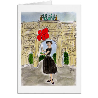Audrey in Paris Card