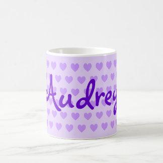 Audrey in Purple Basic White Mug