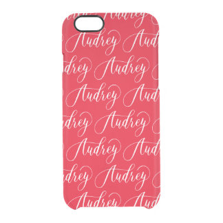 Audrey - Modern Calligraphy Name Design Clear iPhone 6/6S Case