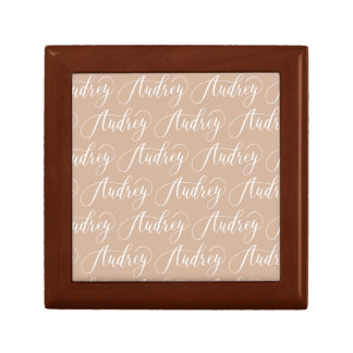 Audrey - Modern Calligraphy Name Design Small Square Gift Box