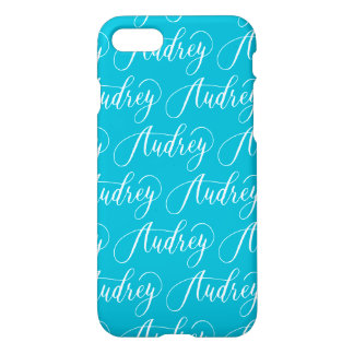 Audrey - Modern Calligraphy Name Design iPhone 7 Case