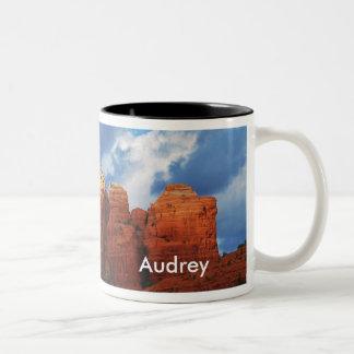Audrey on Coffee Pot Rock Mug