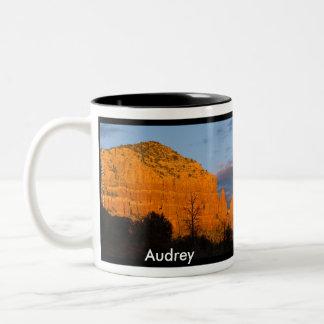 Audrey on Moonrise Glowing Red Rock Mug