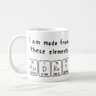 Audrey periodic table name mug