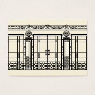 AUDREY'S ART DECO IRONWORK: ELEGANT BLACK & CREAM BUSINESS CARD