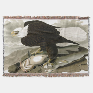 Audubon Bald Eagle Bird Wildlife Throw Blanket