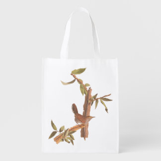 Audubon Bewick's Wren from Birds of America Reusable Grocery Bag
