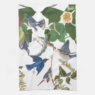 Audubon Bird Animal Wildlife Floral Kitchen Towels