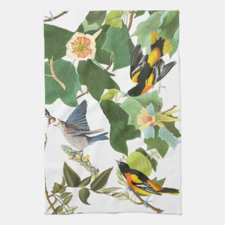 Audubon Bird Animal Wildlife Floral Kitchen Towels