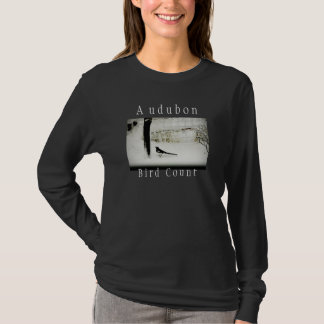 Audubon bird count magpie photo t-shirt