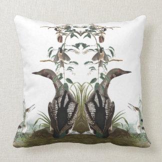Audubon Birds Collage Wildlife Throw Pillow