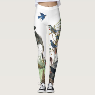 Audubon Birds Wildlife All Over Print Leggings