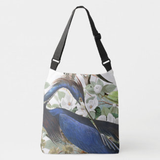 Audubon Blue Heron Bird Wildlife Floral Tote Bag