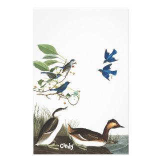 Audubon Bluebird Birds Animals Wildlife Stationery