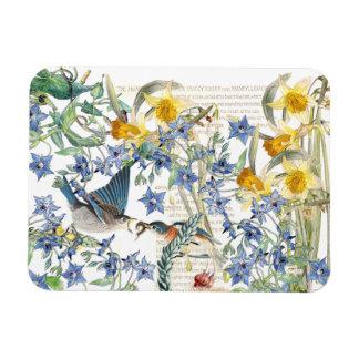 Audubon Bluebird Birds Wildlife Floral Magnet