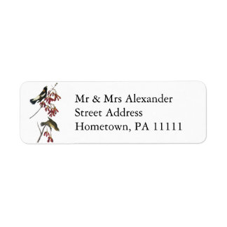 Audubon Bobolink Return Address Label