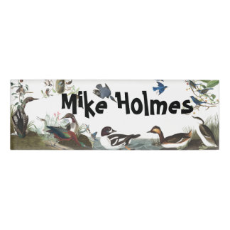Audubon Collage Birds Wildlife Animals Name Tag