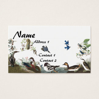 Audubon Collage Birds Wildlife Business Card