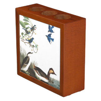 Audubon Collage Birds Wildlife Desk Organizer