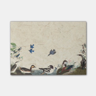 Audubon Collage of Birds Wildlife Post It Notes