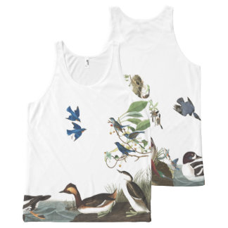 Audubon Collage of Birds Wildlife Tank Top