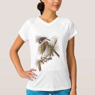 Audubon Crested Titmouse Birds in Pine Tree T-Shirt