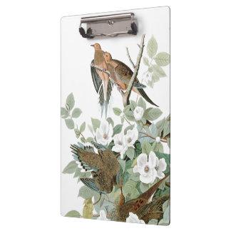 Audubon Dove Birds Wildlife Floral Clipboard