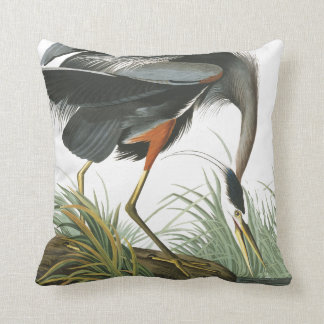 Audubon Great Blue Heron Bird Wildlife Pillow