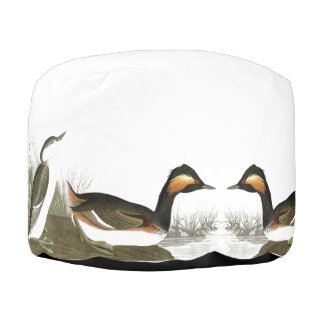 Audubon Grebe Birds Wildlife Animals Pouf Ottoman